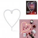 neon heart batteries, 1- times assorted