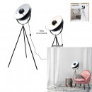 black cinema floor lamp interior white
