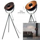 black cinema floor lamp copper interior, 1-time as