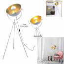 indoor white gold cinema floor lamp, 1-time