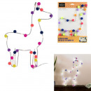bright wall decoration lama pompons 33cm, 1-f
