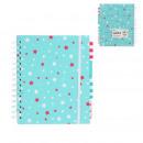 niebieski notatnik A5 100 stron, jednorazowy miesz