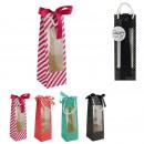 window bottle gift bag, 4- times assorted