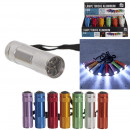 Flashlight 9 LEDs, 8-times assorted