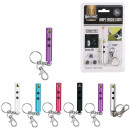 keyring torch lamp laser, 6-times assorted