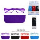 groothandel Leesbrillen en accessoires: gekleurde leesbril, 12- maal geassorteerd