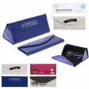 wholesale Fashion & Apparel: Foldable glasses case, 4- times assorted
