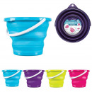 wholesale Cleaning: 10l bucket retractable round, 4-times assorted