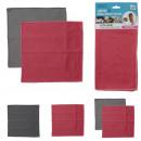 Microfiber tea towel glass 30x30cm x2, 3-fold