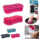 brosse eponge flexible silicone, 3-fois assorti