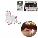 wholesale Keychains: Keyring unicorn sound and light, 1-time asso