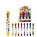 stylo 8 couleurs mr mme, 8-fois assorti