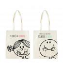 coton canvas bag with handle mr mme, 2-fois ass