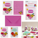 Anniversary invitation and envelope same x6, 2-
