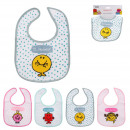 fabric bib mr, 4- times assorted