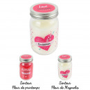 Candle mason jar love words, 2- times assorted