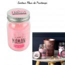 bougie parfumee fleur bocal maman h13cm