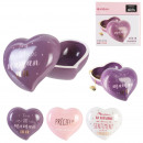 ceramic box heart mom, 3- times assorted