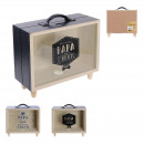 wholesale Saving Boxes: piggy bank suitcase dad, 2- times assorted