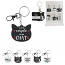 keychain pvc cat, 6- times assorted