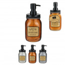 wholesale Bath Furniture & Accessories: apothecary soap dispenser, 3- times assorted