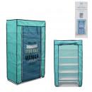 wholesale Garden & DIY store: wardrobe 5 shelves blue 107x30x60cm, 1-time assort
