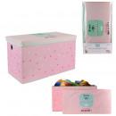 foldable storage chest pink 60x60x35cm, 1-faith
