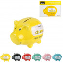 wholesale Gifts & Stationery: Piggy bank pig colored I am, 6- times assorted