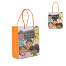 Paper gift bag Thank you 18x10x15cm, 1-fold assort