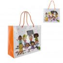 Bolsa de regalo gracias 26x15x31cm, 1-fold assorte