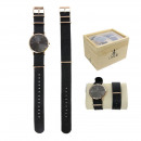 wholesale Jewelry & Watches: Wirst watch nato rose gold + gray and black bracel