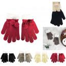 vinter kvinna pompom handskar, 4- times assorted