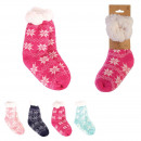 winter child sock, 4- times assorted