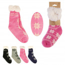 wholesale Stockings & Socks: sock message woman winter, 4- times assorted
