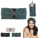 wholesale Fashion & Apparel: winter leyla headband, 3- times assorted