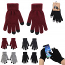 wholesale Gloves: touch gloves, 4- times assorted