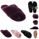 mules imitation fur woman5, 3- times assorted