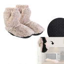 chaussons chauffant imitation fourrure
