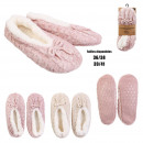 wholesale Shoes: ballerina slippers interior knot sherpa, 2-fold