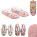 wholesale Shoes: slippers ballerina unicorn cat sherpa, 2-times as