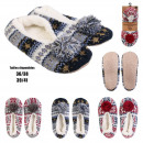 wholesale Shoes: slippers ballerina pompon interior sherpa, 3-faith