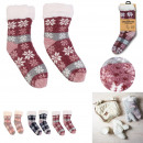 wholesale Stockings & Socks: sherpa chenille socks, 3- times assorted
