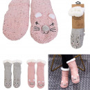 wholesale Stockings & Socks: animal sherpa socks, 2- times assorted