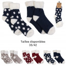 wholesale Stockings & Socks: thick winter socks with patterns x2, 3-fold