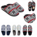 man slippers pattern flake, 3- times assorted