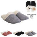 women's knit slippers, 3- times assorted