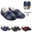 man slippers interior tiles sherpa, 3-times