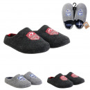 men's indoor shoes slippers, 2- times assorted