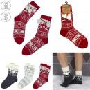 grossiste Vetement et accessoires: chaussettes avec pompons adulte, 3-fois assorti