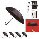 parapluie long ultra-resistant 100cm, 4-fois assor